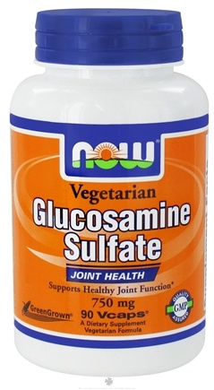 DROPPED: NOW Foods - Glucosamine Sulfate 750 mg. - 90 Vegetarian Capsules