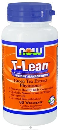 DROPPED: NOW Foods - T-Lean Weight Management Green Tea Extract Phytosome - 60 Vegetarian Capsules CLEARANCE PRICED