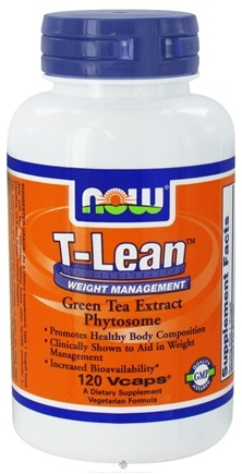 DROPPED: NOW Foods - T-Lean Weight Management Green Tea Extract Phytosome - 120 Vegetarian Capsules