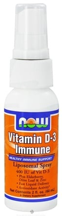 DROPPED: NOW Foods - Vitamin D3 Liposomal Spray 400 IU - 2 oz.