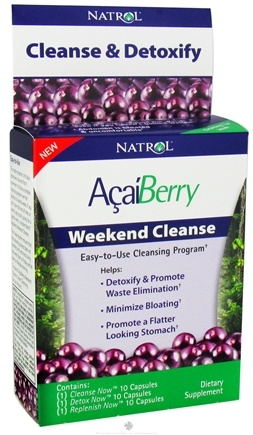 DROPPED: Natrol - AcaiBerry Weekend Cleanse - 30 Capsules CLEARANCE PRICED