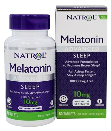 Natrol - Melatonin Advanced Sleep Maximum Strength 10 mg. - 60 Tablets