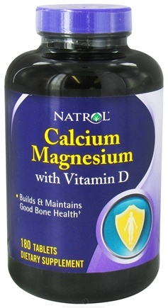 DROPPED: Natrol - Calcium Magnesium with Vitamin D - 180 Tablets