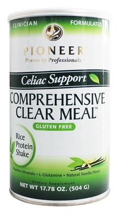 Pioneer - Celiac Support Comprehensive Clear Meal Rice Protein Shake Natural Vanilla Flavor - 17.78 oz.
