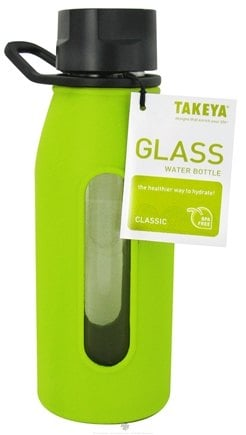 DROPPED: Takeya USA - Classic Glass Water Bottle Green Apple - 16 oz. CLEARANCED PRICED