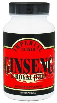 DROPPED: Imperial Elixir - Ginseng & Royal Jelly - 100 Capsules CLEARANCE PRICED
