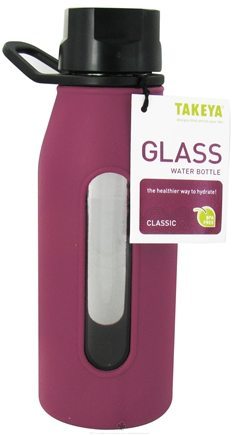 DROPPED: Takeya USA - Classic Glass Water Bottle Purple - 16 oz.