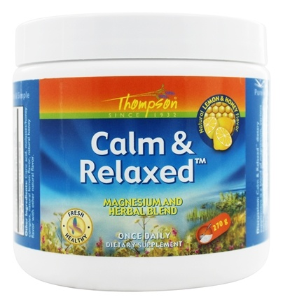 Thompson - Calm & Relaxed Magnesium and Herbal Blend Lemon & Honey Flavor - 270 Grams
