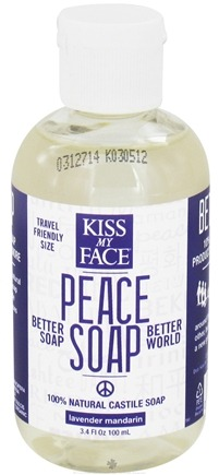 DROPPED: Kiss My Face - Peace Soap 100% Natural All Purpose Castile Soap Lavender Mandarin - 3.4 oz. CLEARANCE PRICED