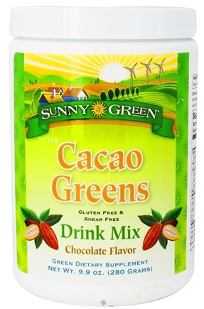 DROPPED: Sunny Green - Cacao Greens Drink Mix Chocolate Flavor - 9.9 oz. CLEARANCE PRICED