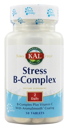 DROPPED: Kal - Stress B-Complex 155 mg Vitamin C with AromaSmooth Coating - 50 Tablets