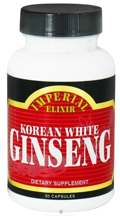 DROPPED: Imperial Elixir - Korean White Ginseng 1000 mg. - 50 Capsules CLEARANCE PRICED