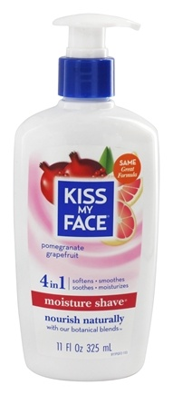 Kiss My Face - Moisture Shave Pomegranate Grapefruit - 11 oz.