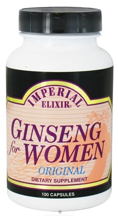 DROPPED: Imperial Elixir - Ginseng For Women - 100 Capsules CLEARANCE PRICED