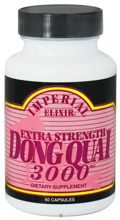 DROPPED: Imperial Elixir - Dong Quai Extra Strength 3000 mg. - 60 Capsules CLEARANCE PRICED