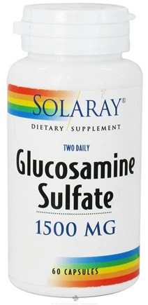 DROPPED: Solaray - Glucosamine Sulfate Two Daily 1500 mg. - 60 Capsules CLEARANCE PRICED