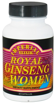 DROPPED: Imperial Elixir - Royal Ginseng For Women - 45 Capsules CLEARANCE PRICED