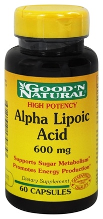 DROPPED: Good 'N Natural - Alpha Lipoic Acid 600 mg. - 60 Capsules
