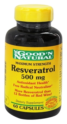 DROPPED: Good 'N Natural - Resveratrol 500 mg. - 60 Capsules