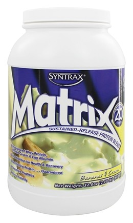 Syntrax - Matrix 2.0 Sustained-Release Protein Blend Bananas & Cream - 2.04 lbs.
