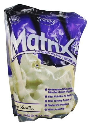 Syntrax - Matrix 5.0 Sustained-Release Protein Blend Simply Vanilla - 5 lbs.