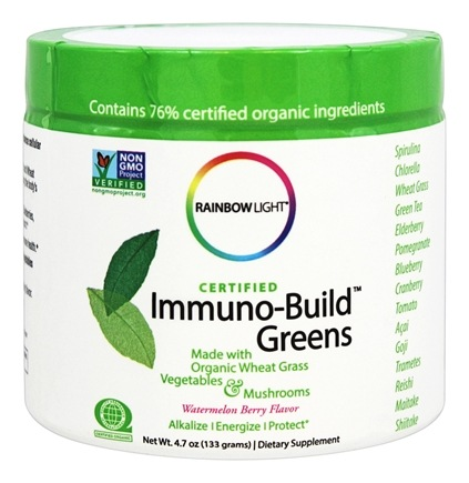 DROPPED: Rainbow Light - Certified Immuno-Build Greens Watermelon Berry Flavor - 4.7 oz.