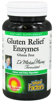 DROPPED: Natural Factors - Gluten Relief Enzymes - 90 Vegetarian Capsules CLEARANCE PRICED