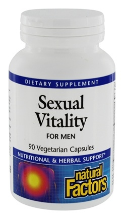 DROPPED: Natural Factors - Sexual Vitality For Men - 90 Vegetarian Capsules CLEARANCE PRICED