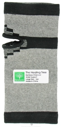 "DROPPED: The Healing Tree - Bamboo Charcoal Ankle Support Large Size 4.0"" x 9.25"" - CLEARANCE PRICED"