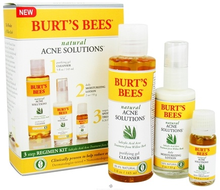 DROPPED: Burt's Bees - Natural Acne Solutions 3 Step Regimen Kit - 3 Piece(s)