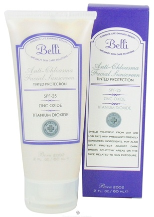 DROPPED: Belli - Anti-Chloasma Facial Sunscreen 25 SPF - 2 oz. CLEARANCE PRICED
