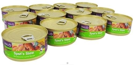 DROPPED: Halo Purely for Pets - Spot's Stew For Dogs 5.5 oz. Wholesome Lamb Recipe - 12 Can(s)