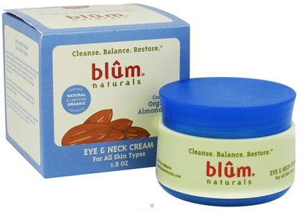 DROPPED: Blum Naturals - Eye & Neck Cream For All Skin Types - 1.8 oz. CLEARANCE PRICED