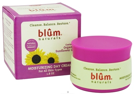 DROPPED: Blum Naturals - Moisturizing Day Cream For All Skin Types - 1.8 oz.