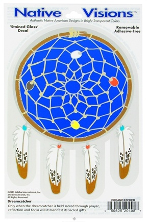 DROPPED: Native Visions - Window Transparencies Dreamcatcher - CLEARANCE PRICED