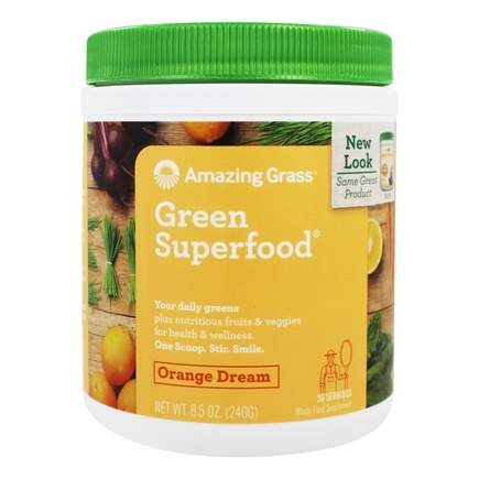 Amazing Grass - Green SuperFood Drink Powder 30 Servings Orange Dreamsicle - 8.5 oz.