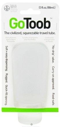 DROPPED: Humangear - GoToob Squeezable Travel Tube Clear - 3 oz. CLEARANCE PRICED