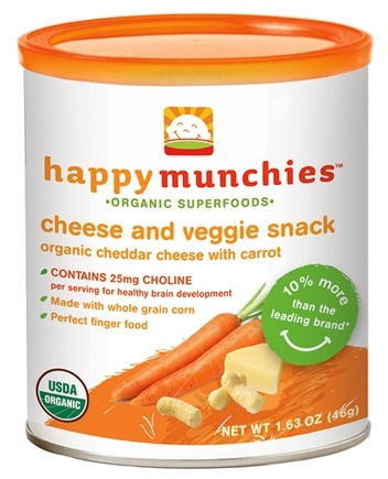 DROPPED: HappyFamily - Happy Munchies Organic Cheese & Veggie Snack Organic Cheddar Cheese With Carrot - 1.63 oz.