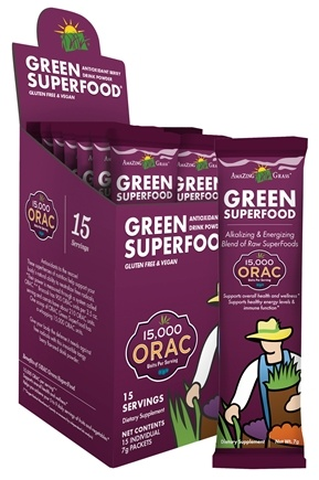 DROPPED: Amazing Grass - Green SuperFood ORAC Antioxidant Berry - 15 Packet(s)