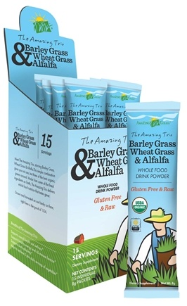 Zoom View - The Amazing Trio Barley, Wheat Grass & Alfalfa Whole Food Drink Powder