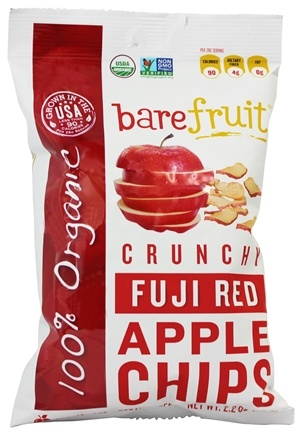 DROPPED: Bare Fruit - 100% Organic Bake-Dried Fuji Apple Chips - 2.6 oz.