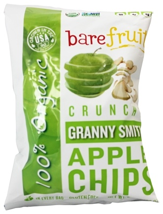 DROPPED: Bare Fruit - 100% Organic Bake-Dried Granny Smith Apple Chips - 2.2 oz.