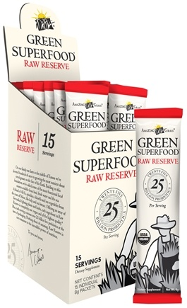 DROPPED: Amazing Grass - Green Superfood Raw Reserve - 15 Packet(s) CLEARANCE PRICED