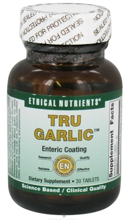 DROPPED: Ethical Nutrients - Tru Garlic - 30 Tablets CLEARANCE PRICED
