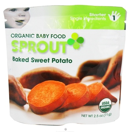 DROPPED: Sprout - Organic Baby Food Stage 1 Starter Single Ingredients Baked Sweet Potato - 2.5 oz.