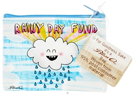 DROPPED: Blue Q - Rainy Day Fund Coin Purse - CLEARANCE PRICED