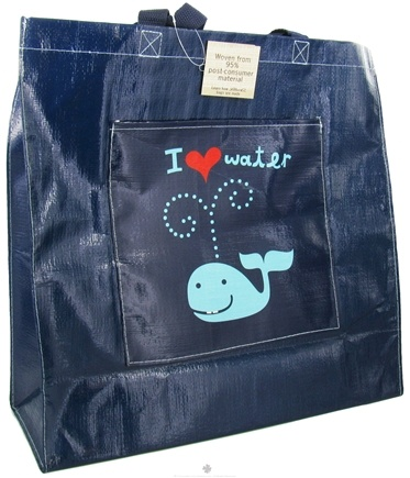 DROPPED: Blue Q - I Heart Water Whale Shopper Bag