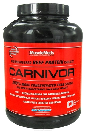 DROPPED: MuscleMeds - Carnivor Bioengineered Beef Protein Isolate Blue Raspberry - 4 lbs.