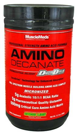 DROPPED: MuscleMeds - Amino Decanate Professional Strength Amino Acid Formula Citrus Lime - 12.7 oz. CLEARANCE PRICED