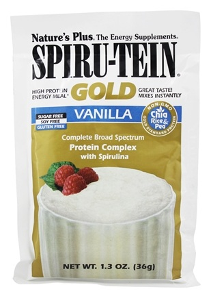 DROPPED: Nature's Plus - Spiru-Tein Gold High Protein Energy Meal Packet Vanilla - 1.3 oz.